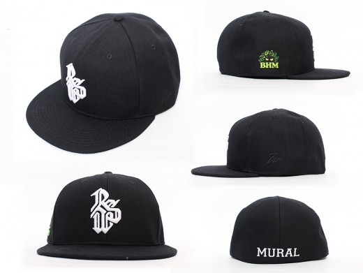 MURAL×RSW CAP BLK